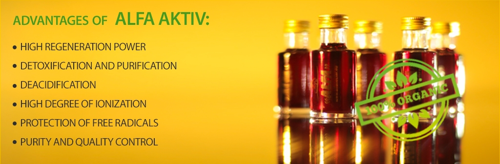 advantages of  ALFA AKTIV, high regeneration power  detoxification and purification  deacidification