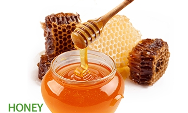 Honey, 78 different enzymes, (important for  metabolism), antibacterial effect